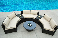 Half Moon 6 pcs All Weather Resin Wicker Patio Set, $2350