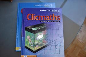 Clic Maths Manuel de l'élève volume a et b 2e cycle du primaire
