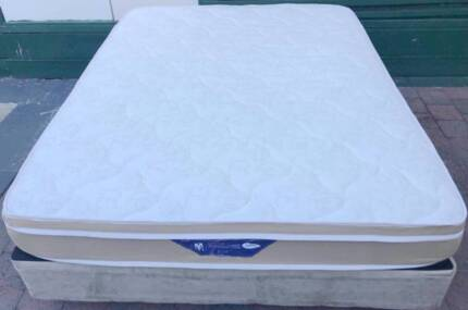Excellent Pillow Top queen size mattress and base for sale