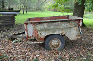Box from 1958? Chevy PU made into trailer