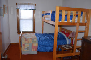 Quality solid pine twin bed and twin loft bed