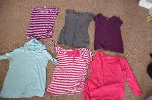 Maternity shirts and tank tops, small and medium