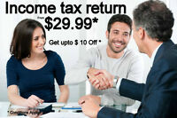 Personal Income tax return from $29.99 ( ENJOY $10 OFF*)