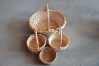 Collection of 7 wicker/woven baskets