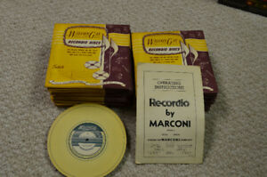 Antique vintage Wicox-Gay Recordio recordable discs by Marconi