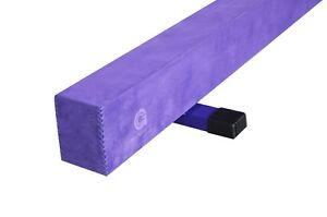 "7"" Gymnastics Off Ground Training Balance Beam (Tan/Pink/Purple)"