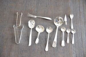 Misc. Sterling Silver & Silver Plate Condiment Flatware
