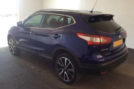 2015 BLUE NISSAN QASHQAI 1.5 DCI 110 TEKNA DIESEL HATCHBACK CAR FINANCE FR £54PW