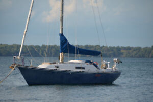 C&C 35 MK1  SAILBOAT Now out of the water