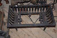 ---Two Black Cast Iron Grates ---