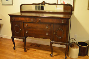 Beautiful Antique Solid Wood Dining Buffet
