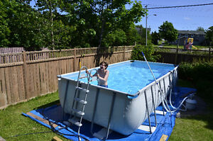 "L16' x W9' x D48"" Bestway Pool and Salt Water System - 2 yrs old"