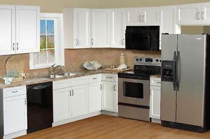 20% off for White Shaker Frameless Kitchen Cabinets-Winnipeg