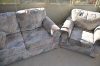 Loveseat, Chair, Ottoman FREE