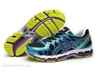Mens Asics Gel Kayano 20 Running Trainers - Black Blue Purple
