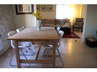IKEA 'Norden' extendable beech dining table