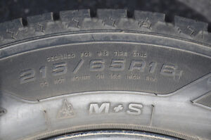 Four Winter Tires With Rims