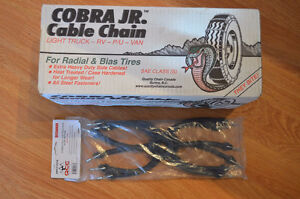 NEW IN BOX COBRA LIGHT TRUCK CABLE CHAINS & TENSIONERS