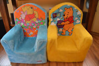 Fuzzy Winnie the Pooh Toddler Chairs