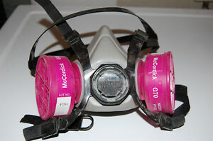 Asbestos and lead respirator with cartridge