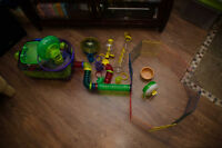 Hamster Home and Play Area with Many Accessories!