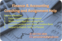 Finance and Accounting Assignments and Coaching