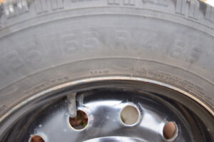 14 inch Winter tyres on steel rims - fits Saturn (plus others)