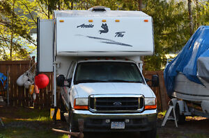 artic fox camper and f350 ford truck