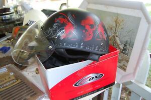 Large Helmet Rose Skull Motif $50.00 OBO with visor