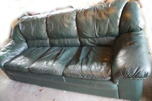 Free Dark Green Leather Couch