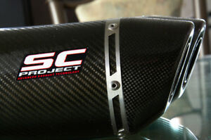 Triumph Street Triple SC-Project Carbon Fibre Dual Exhaust