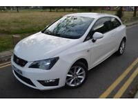 2013SEAT IBIZA FR SPORTSCOUPE 1.2,MOT MARCH 2019,PETROL,RD TX£30,WHITE,MANUAL
