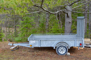 5 x 8 Galvanized Utility Trailer with High Gate