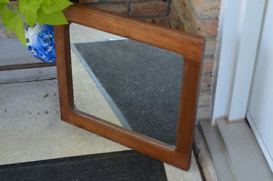 Solid wood mirror made from a old cupboard