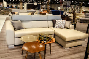 SOFA SECTIONAL DUO - BED W/STORAGE - MICROFIBER - MADE IN EUROPE