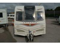 2013 Bailey Unicorn Madrid-4 Berth-End Washroom&Side Dinette-Touring Caravan