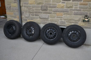 "Brand New 17"" Winter Tires on Ford F-150 Steel Wheels"