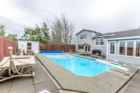 Open House today 1.08 ACRES IN CBS in ground swimming pool, pond