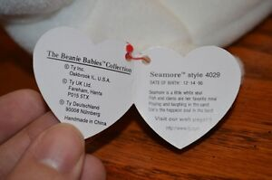 For Sale: Ty Beanie Babies *Retired & Rare* - Seamore the Seal Sarnia Sarnia Area image 3