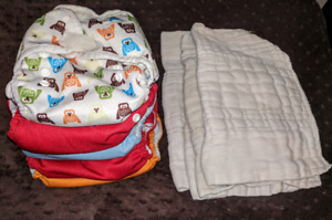 5 unisex all in one cloth diapers