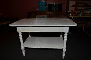 Antique wood table, rustic