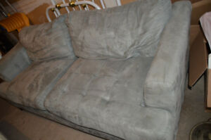 Cindy Crawford Micro suede sofa for sale.