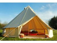 NEW 4m Canvas Bell Tent FREE DELIVERY Superior Quality 100% Cotton ideal for glamping festivals etc