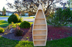 Hand Crafted Canoe Shelves