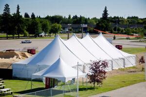 40'x100' Peak Pole Tent - Like New