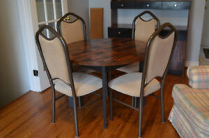 Veneer Dining Table/4 Chairs and Matching Hutch