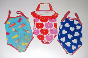 """Girls Swim Suits MINI BODEN """"Set of 3"""" in Sizes 5 to 6 Years"""