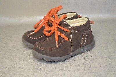 Primigi Toddler Boys Shoes - Primigi Boys Brown Leather Suede Lace Up Shoes Size EU 22 US 6 Toddler