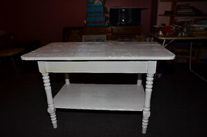 Rustic solid wood table (or island), new price!