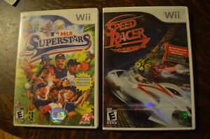 Wii MLB SUPERSTARS and SPEED-RACER-THE-VIDEO-GAME - Complete
